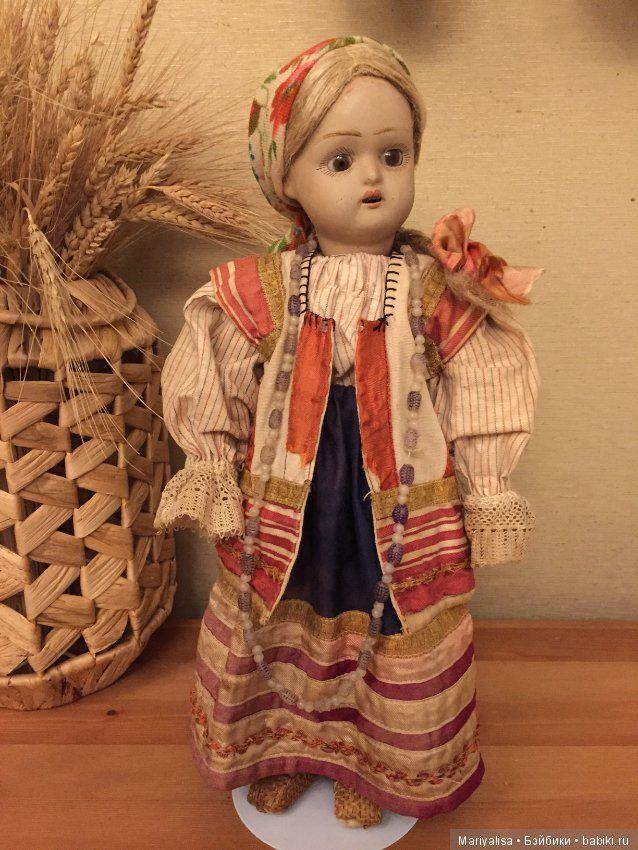 Русская Дуняша в родной одежде / Антикварные куклы, реплики / Шопик. Продать купить куклу / Бэйбики. Куклы фото. Одежда для кукол