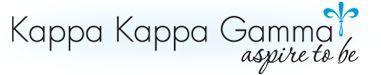 """The tagline of Kappa Kappa Gamma is, """"Aspire to be."""""""