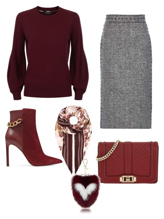 """""""chics"""" by mchlap on Polyvore featuring Burberry, Valentino, Nine West and Rebecca Minkoff"""