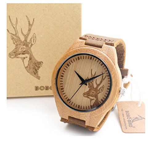 New Game of Thrones Inspiriert Wolf Deer Stil Bambusholz Uhren der Männer Luxusmarkenarmbanduhren