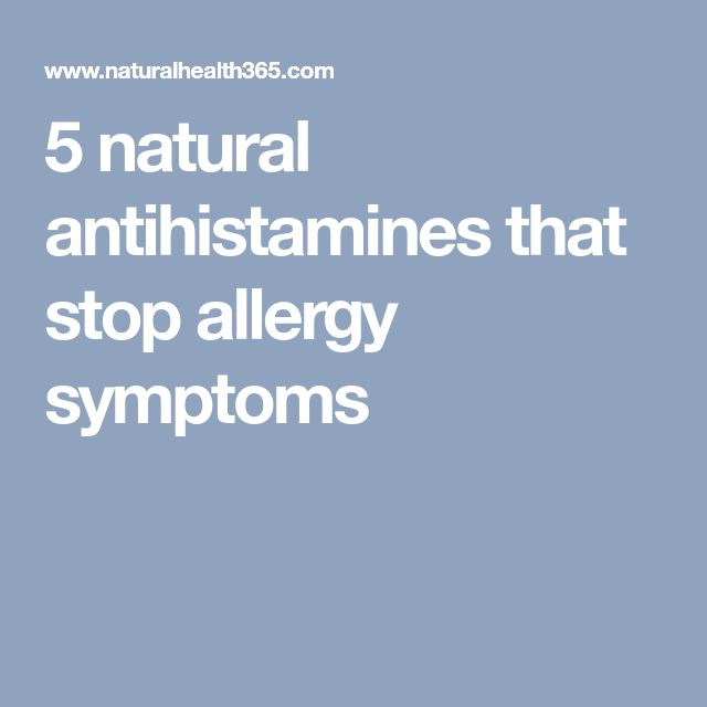 5 natural antihistamines that stop allergy symptoms