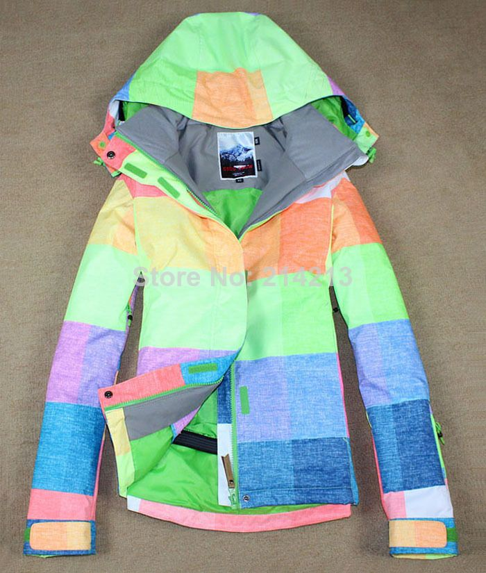 Cheap jacket wave, Buy Quality jacket coat women directly from China coat zipper Suppliers: Free shipping+2014 winter NEW ARRIVE+Promotion Candy Multi-green Woman Snowboard Jacket coats+2 layers+XS-L+ski jacket w