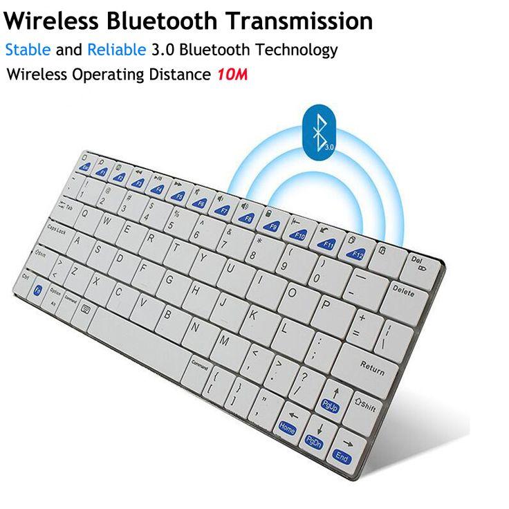Ultra-slim Wireless Keyboard Bluetooth 3.0 Gaming Keybaord Board for Apple iPad/iPhone Series/Mac Book/Samsung Halloween Gift //Price: $34.00      #sale
