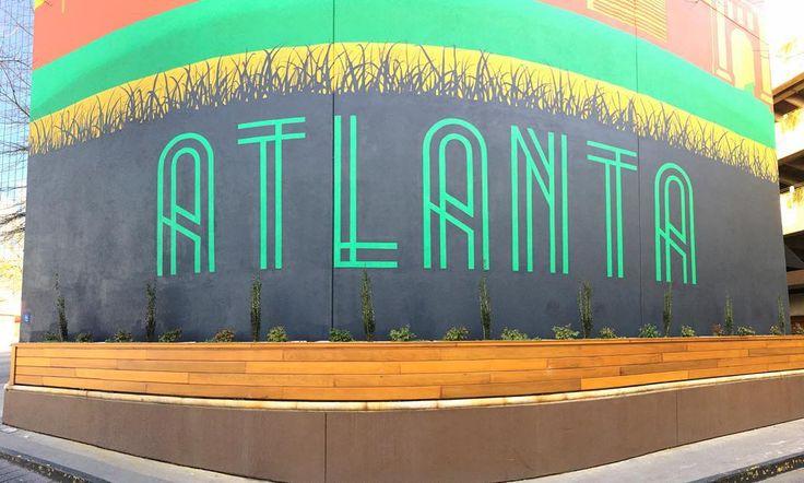 Atlanta Mural at the Glenn Hotel   Best Wall Murals in Atlanta   ATL Bucket List