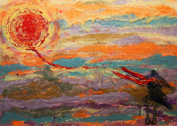 Дыхание солнца (Sunspirit), 30х40, а.к.х. (acrylic on canvas on cardboard), 2015
