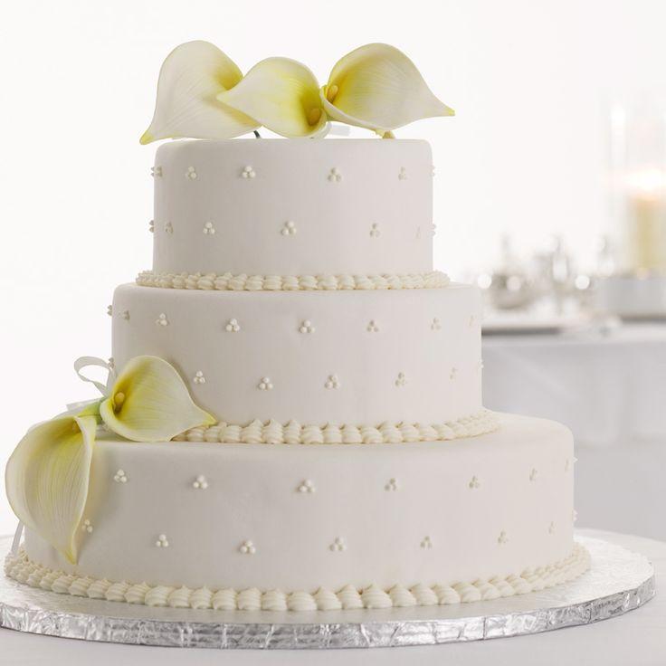 Sober calla lily white cake