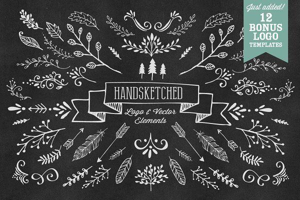 HandSketched Vector Elements Pack - Illustrations