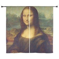 Mona Lisa by Leonardo Da Vinci Curtains
