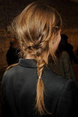 braid into a braid: Braids Hairstyles, Hair Colors, Messy Hair, Long Hair, Fashion Hairstyles, Fashion Blog, Messy Braids, Hair Style, Side Braids