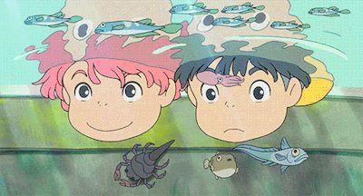 Sasuke & Ponyo | Ponyo | Miyazaki | Studio Ghibli | (gif)