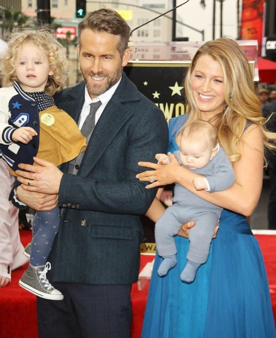 Blake Lively and Ryan Reynolds with kids