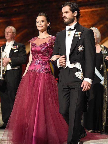 Swedish Royal Family at Nobel Prize Ceremony: King Carl, Princess Victoria