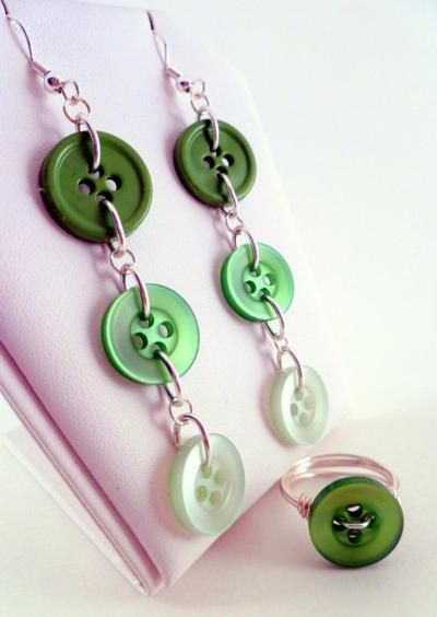 Button Earrings that Dangle!