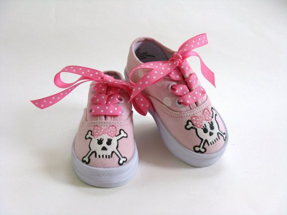 Girls Pirate Shoes Baby and Toddler Skull by boygirlboygirldesign, $30.00