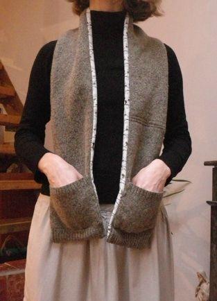 Une écharpe à poches pour l'hiver