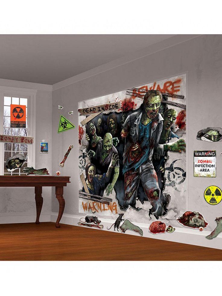 Schaurige Zombies Halloween Mega Deko Set 32 Teilig Bunt Aus Der Kategorie