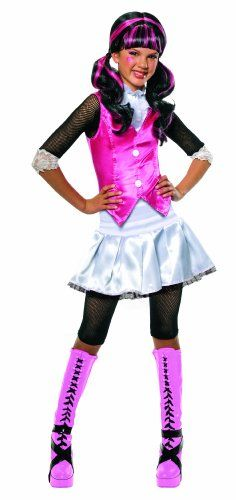 Rubie's Costume Co Monster High Draculaura Costume - Draculaura is Monster High's favorite vegan vampire. Costume is available in children's small (size 4 to 6), medium (size 8 to 10) and large (size 12). Hand wash cold, line dry. Rubie's has the licensed characters your kids want to be at Halloween and all year long. Price: $19.14 - #topkidshalloweencostumesfor2012 #topkidscostumes #topcostumesforkids - http://mermaidhalloweencostume.net