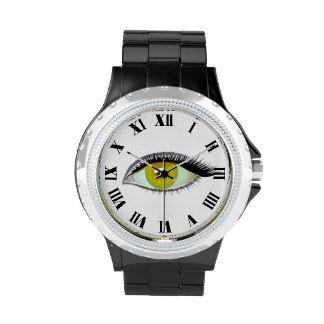 I watch and see amber eye wrist watch
