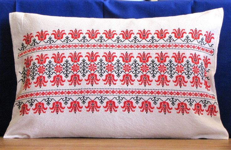 Handmade, embroidered pillow from Hungary. 35 x 42 cm :)