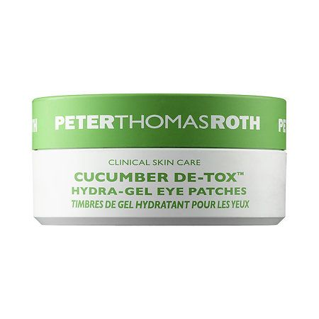 Cucumber De-Tox™ Hydra-Gel Eye Patches - Peter Thomas Roth | $48  -Cucumber Extract  -Arnica  -Hyaluronic Acid  -Glycerin   Water, Glycerin, Carrageenan