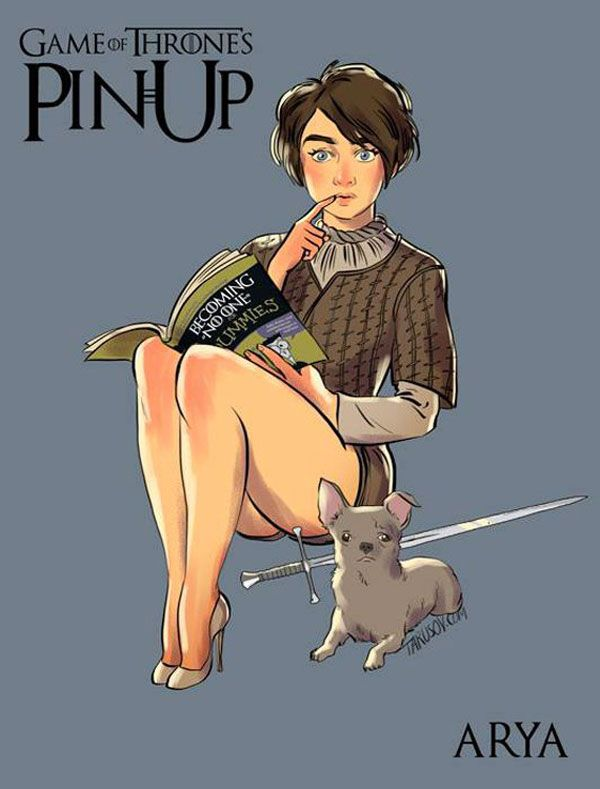 personnages féminins de Game of Thrones en mode pin-up