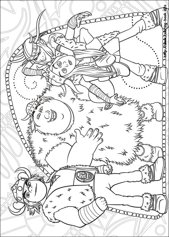 Printable Coloring Page Of How To Train Your Dragon Picture 14