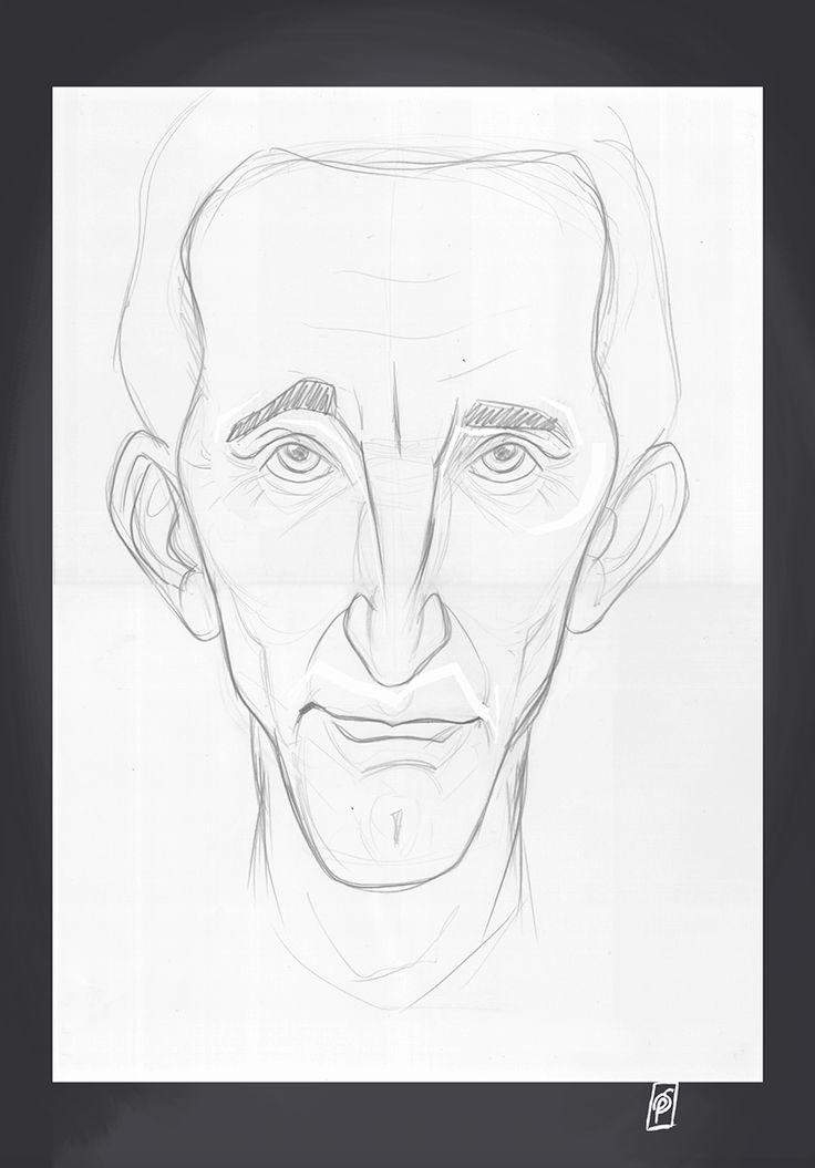 Kirk Douglas art | decor | wall art | inspiration | caricatures | home decor | idea | humor | gifts
