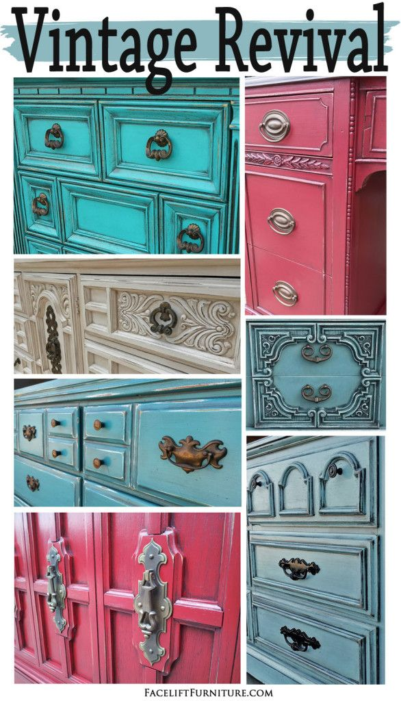 How paint, glaze and distressing gives a whole new life to cringe-worthy furniture. From the Facelift Furniture DIY Blog.