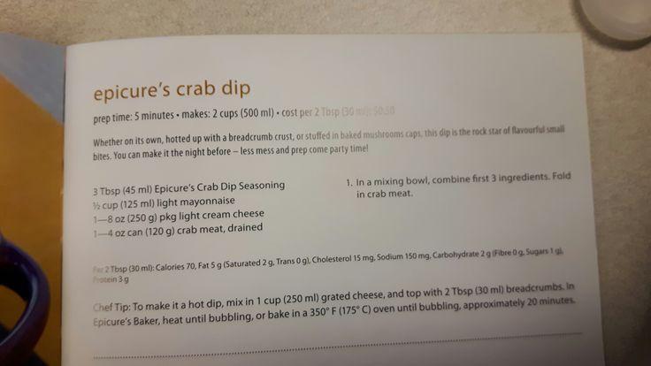 Epicure crab dip