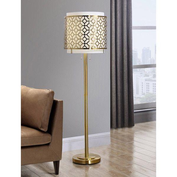 Melrose Geometric Antique Bronze Floor Lamp