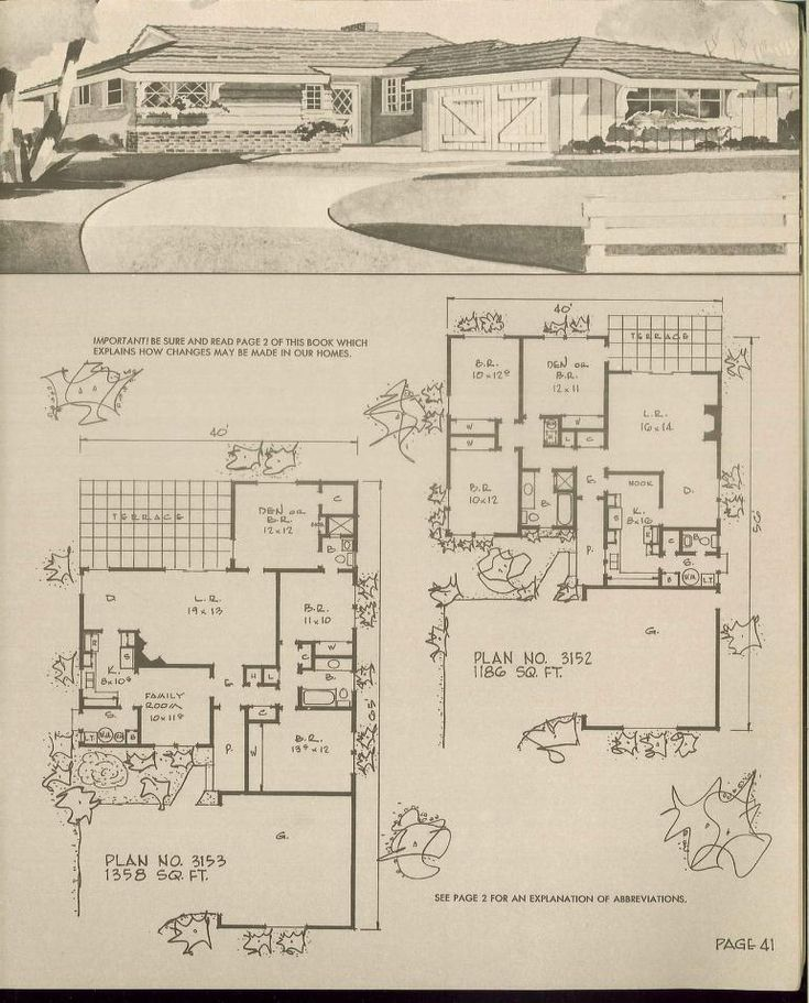 220 best images about vintage house plans 1960s on for 1960s floor plans