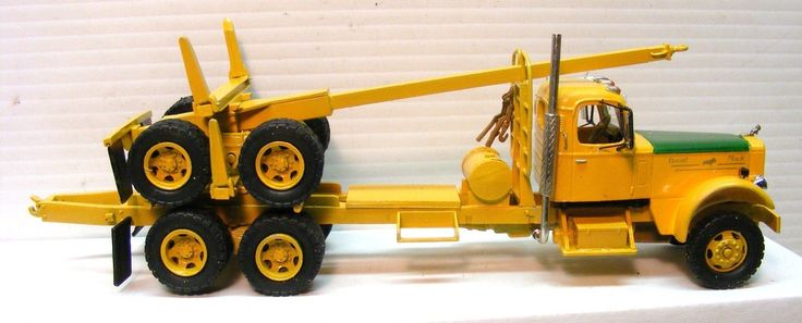 1/48 Scale LTL Western Mack Log Truck & Trailer. Has Windshield Wipers, West Coast Mirrors, Chrome Air Horn, Full Exhaust System, Headache Rack With Chain Binders Hanging, Water Tank For Brake Cooling, Chassis Extension (Stinger) With Working Pintle Hitch, Swiveling Log Bunks, Chassis Side Steps. | eBay!