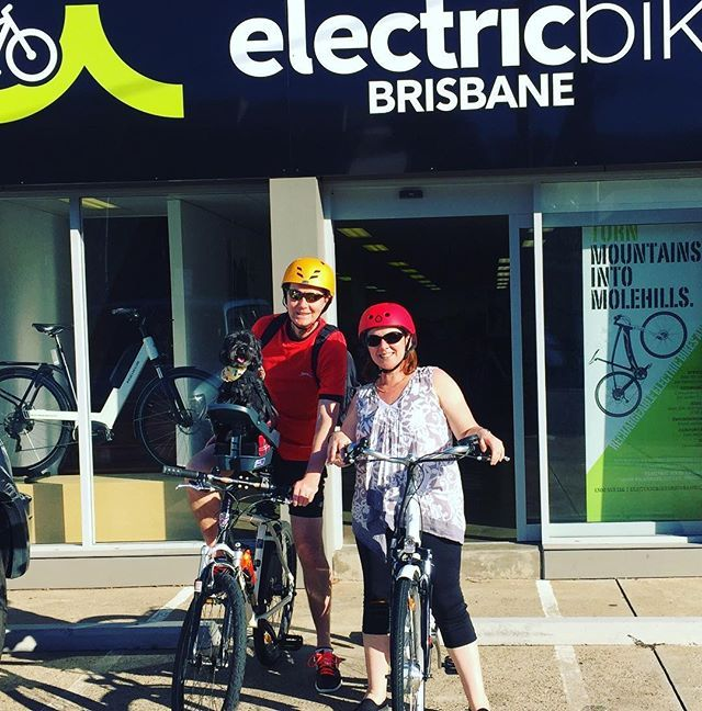 All ready for the ride home on a #gorgeousday in #brisbane . We think Oscar might be the most excited 👍🚴🐶 congrats on your new #electric #bike! #mansbestfriend #bikedog #ebike #loveriding #lovecycling #brisbanecyclist #brisbanecycling #sunshinecoast #goldcoast #toowoomba