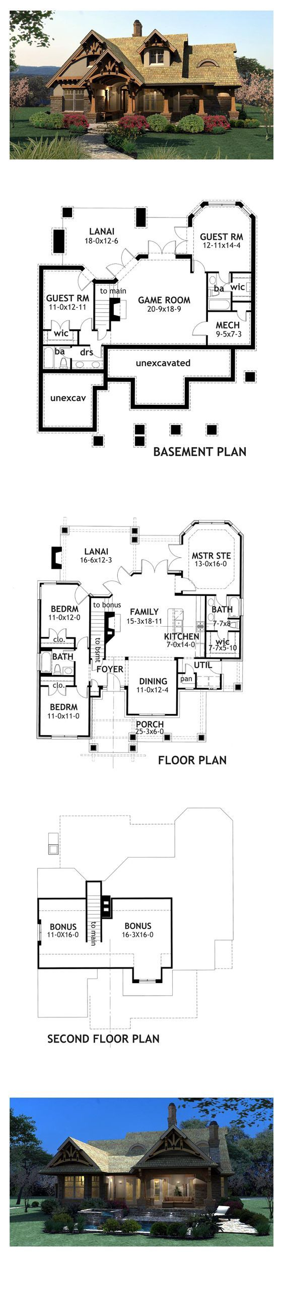 Craftsman Style COOL House Plan ID: chp-49217 | Total Living Area: 1421 sq. ft, 3 bedrooms & 2 bathrooms. #houseplan #craftsmanstyle