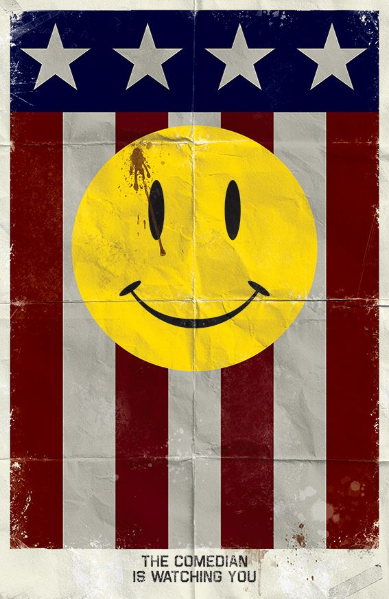 Watchmen Minimalist Posters - The Comedian