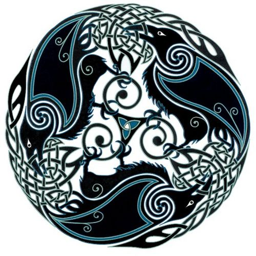 Jen Delyth - Triple Raven Goddess: this is the throw I bought at a celtic festival in cleveland :)