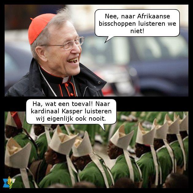 Kardinaal Kasper ontkent dat hij zich zo over Afrikanen heeft uitgesproken. Een klein probleempje: Edward Pentin heeft het opgenomen op tape!