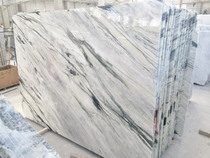 Calacatta Moonlight White Marble With Dramatic Grey