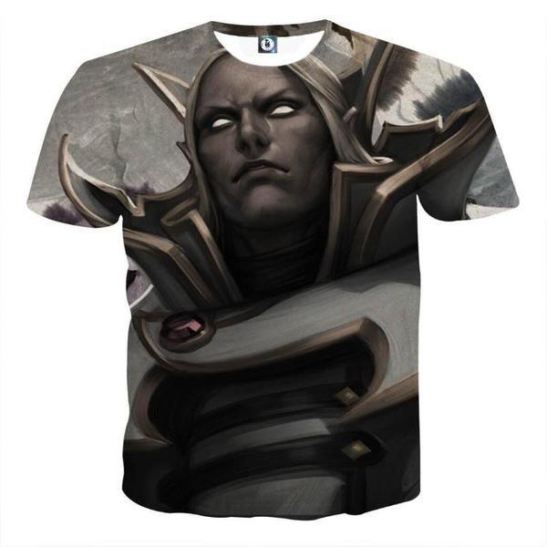 Invoker Gray Art Style 3D Printed Invoker T-Shirt