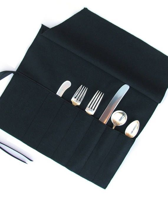 Anti Tarnish Flatware Roll - Sterling Silver Flatware Storage, Monogrammed Storage Bags, Silverware Roll, Simple Elegance Collection