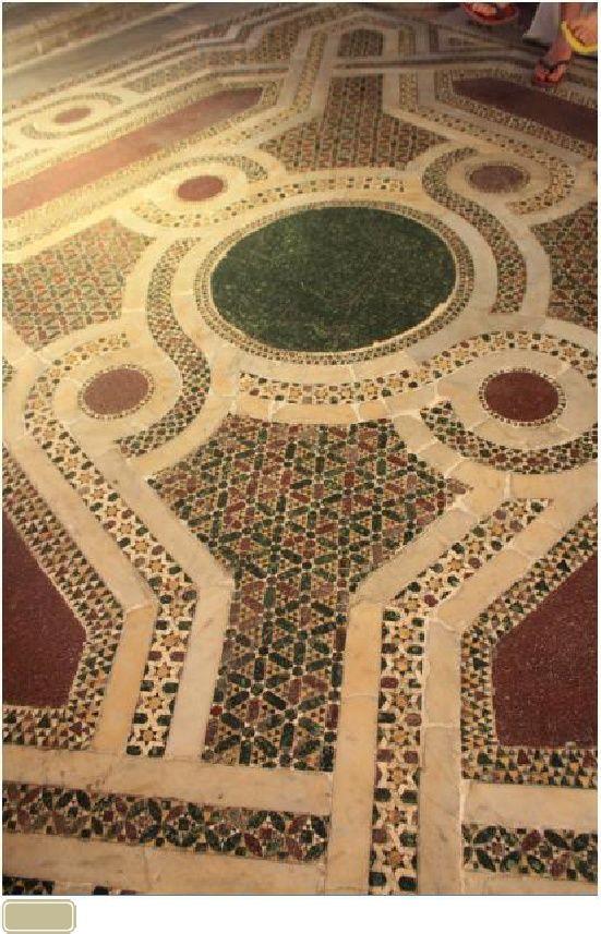 Parte del riquadro centrale sotto alla cupola della Chiesa di San Cataldo a Palermo - Nicola Severino