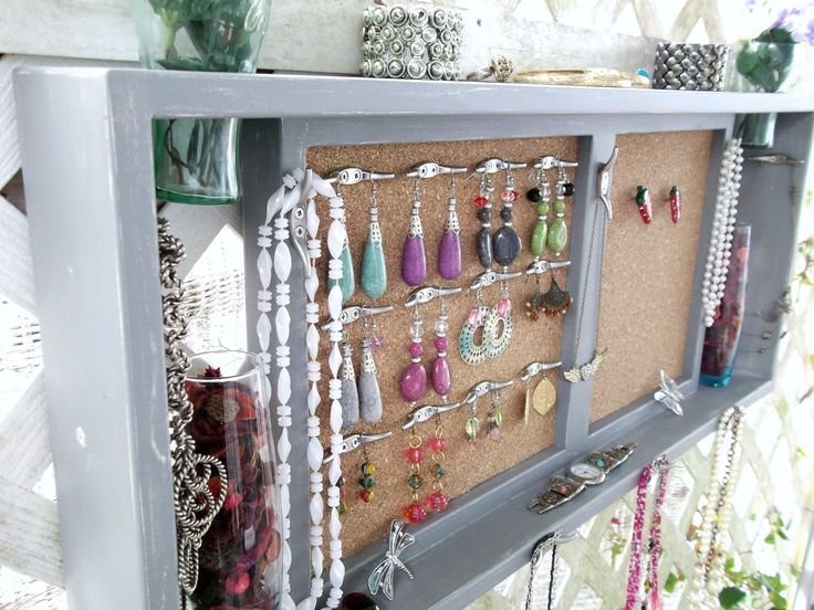 quirky jewellery organiser: Messages Boards, Jewelry Display, Shelf Messages, Wall Shelves, Jewelry Organizer Wall, Jewelry Organizations Wall, Display Shelf, Wall Display, Display Shelves