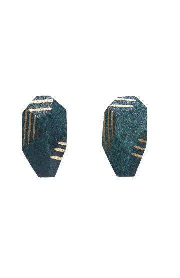 Cinder Wood Prism Studs - Elk Accessories