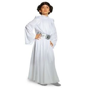DISNEY STORE STAR WARS DELUXE PRINCESS LEIA COSTUME WHITE BUN WIG  GIRLS 1112 -- Click image for more details.