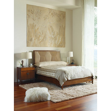 Bill Sofield Queen Branche Bed with Woven Headboard