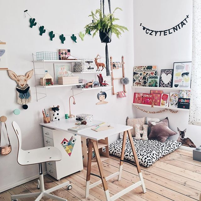 How fun is this kids room? Here're the study zone and the reading corner http://petitandsmall.com/kids-room-instagram-roomor/