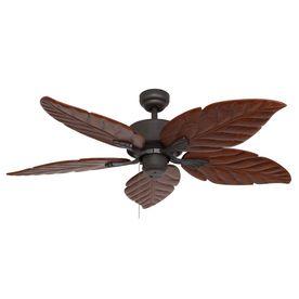 Palm Coast Puerto Vallarta 52-in Bronze Downrod or Flush Mount Ceiling Fan