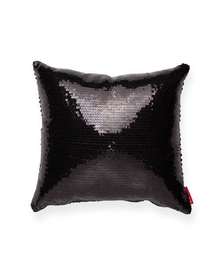 Black Sparkle Throw Pillow : Decorative Black Square Full Sequin Throw Pillow Home Design// Pinterest Color black ...