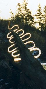 Landscape sculptor Andy Goldsworthy is renowned throughout the world for his work in ice, stone, leaves, wood.