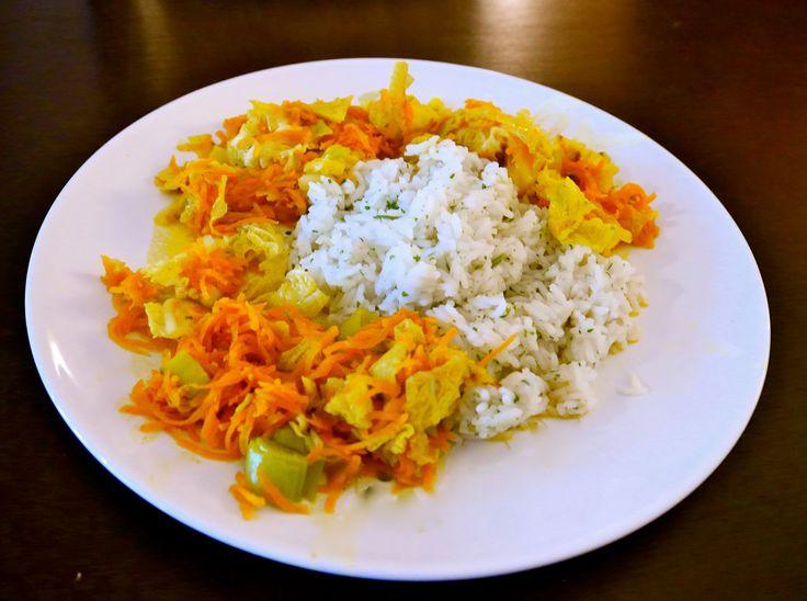 Wirsing- Mohrrüben Pfanne mit Dill Reis